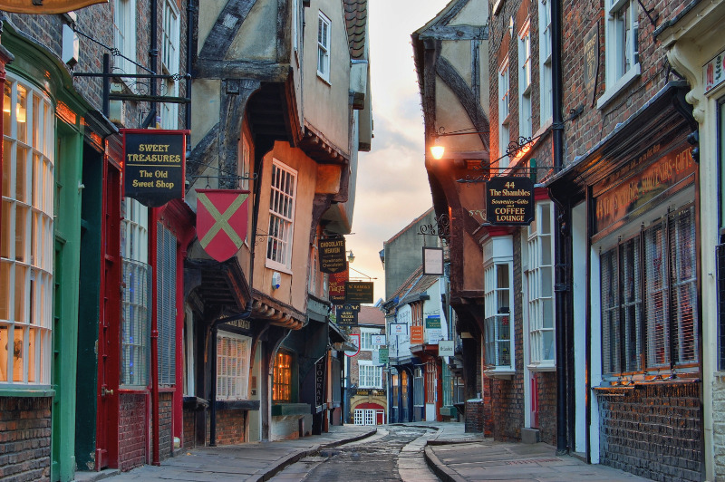 The Shambles, York, backroads tours of England