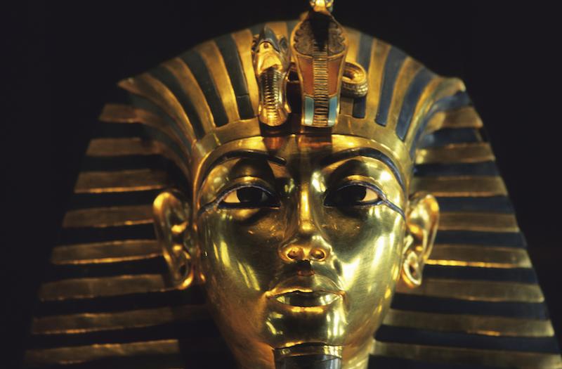 King Tutankhamen gold funerary mask