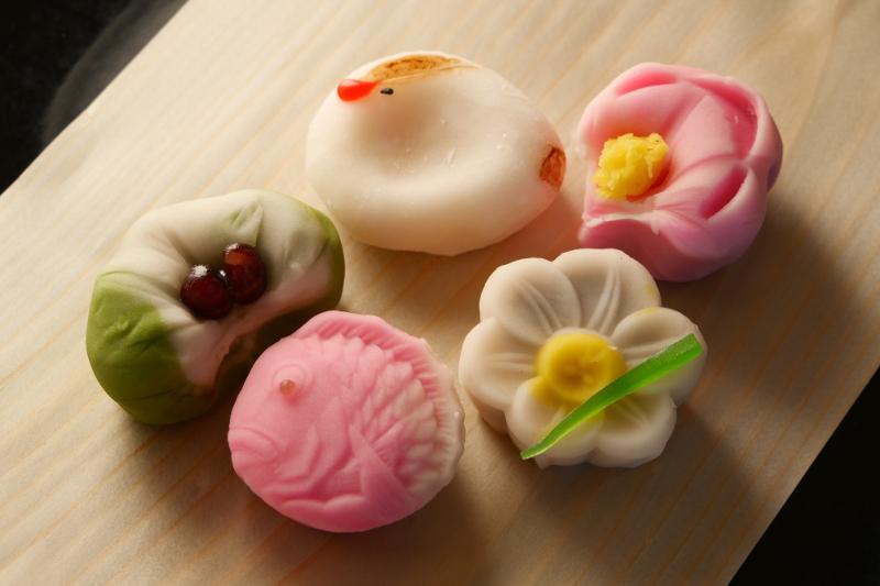 Wagashi Japanese tea ceremony snacks