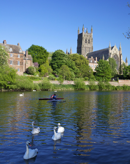 Worcester Cathedral, backroads tours England