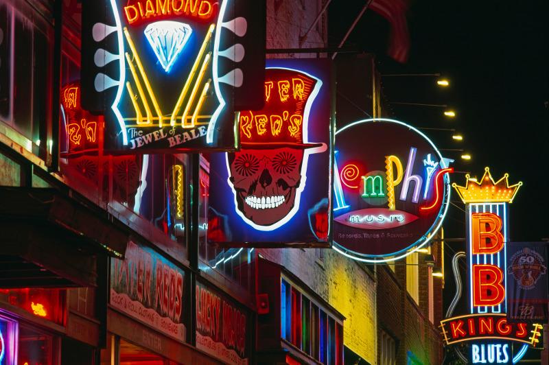 Beale Street neon signs