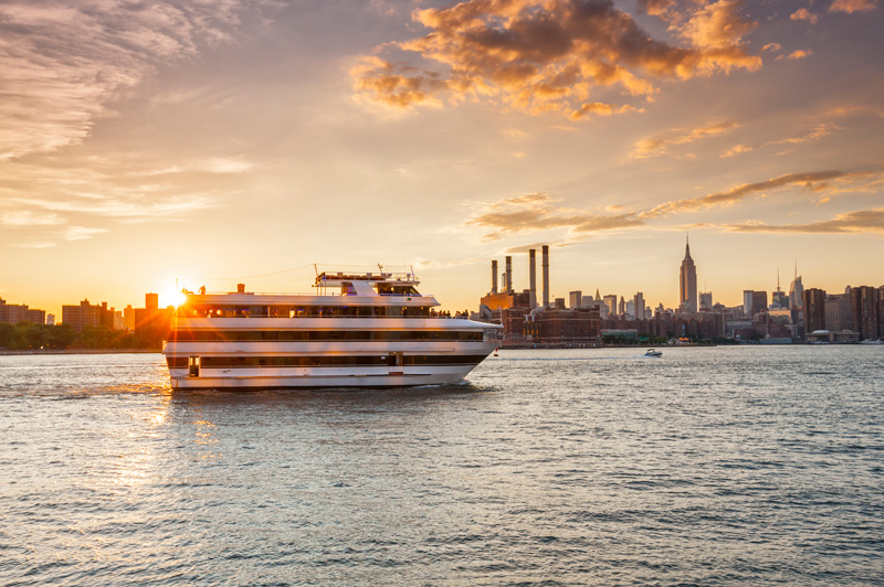 Whether an ocean or river cruise, both promise spectacular views and unforgettable sunsets.