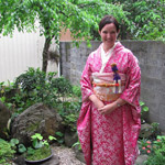 Sonia in kimono