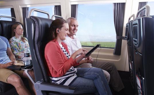 Spirit of Queensland Premium Economy seats