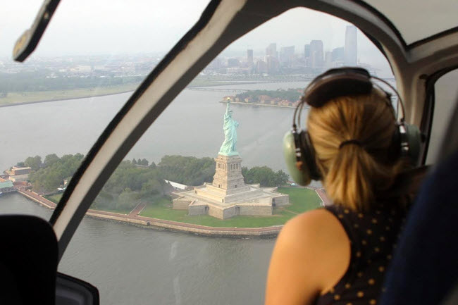 Lady Liberty as seen from above