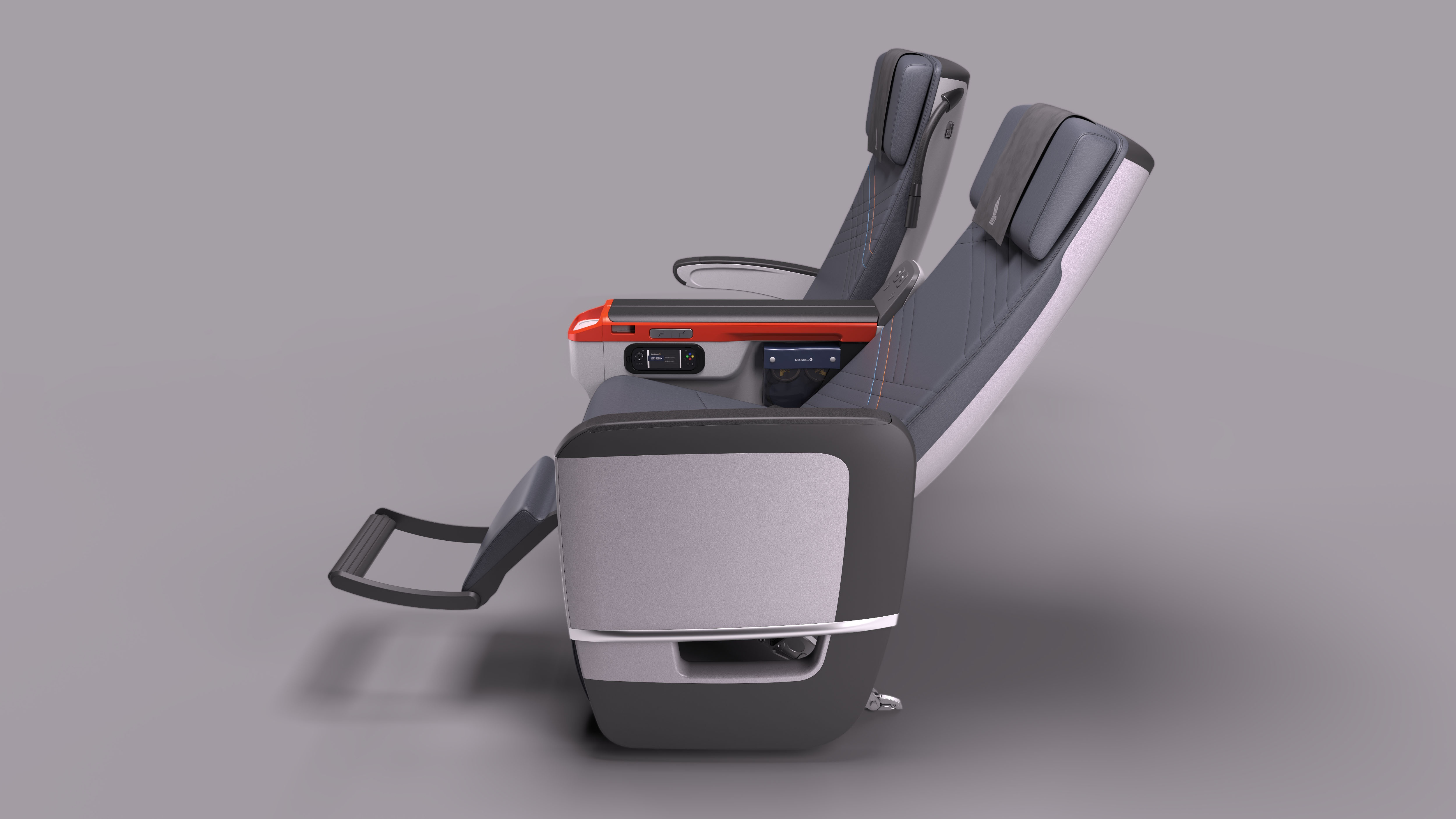 An example of the Premium Economy Class seat to be fitted progressively Singapore Airlines
