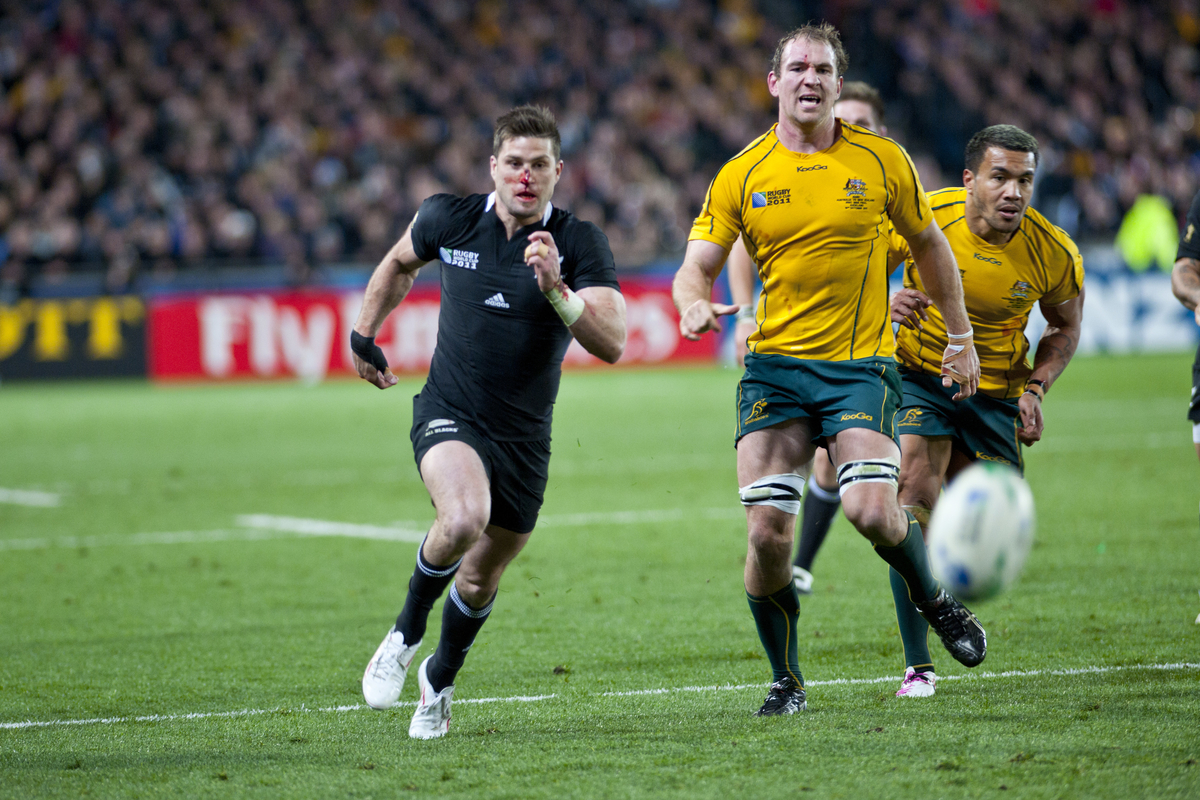 John Eales says the All Blacks will have to be the favourites for the Rugby World Cup 2015. This image: Rugby World Cup 2011 , Match 46, New Zealand v Australia at Eden Park, Auckland, New Zealand.
