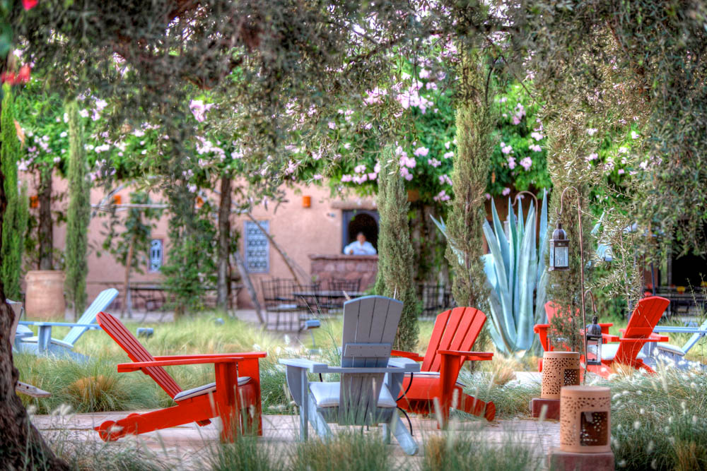 This image: The gardens of Beldi Country Club, Morocco.