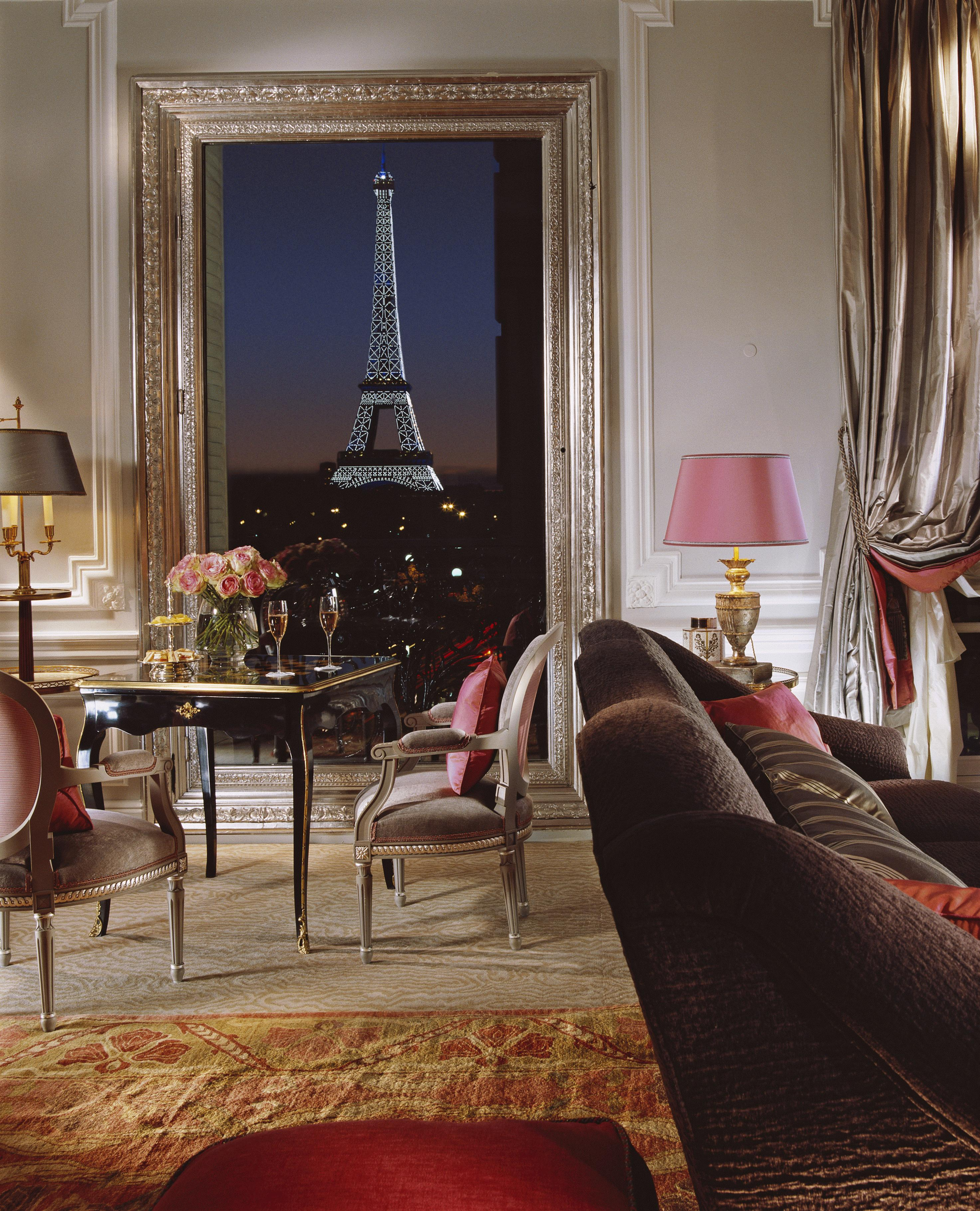 This image: View from an Eiffel Suite at the Hôtel Plaza Athénée.