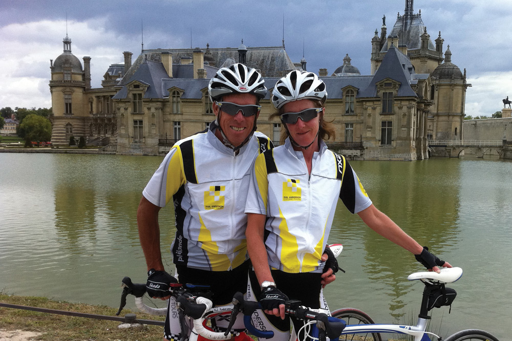 Phil has been guiding weekend warriors for many years on cycling tours of Europe, giving each the opportunity to reach individual targets. Image courtesy of Phil Anderson Cycling.