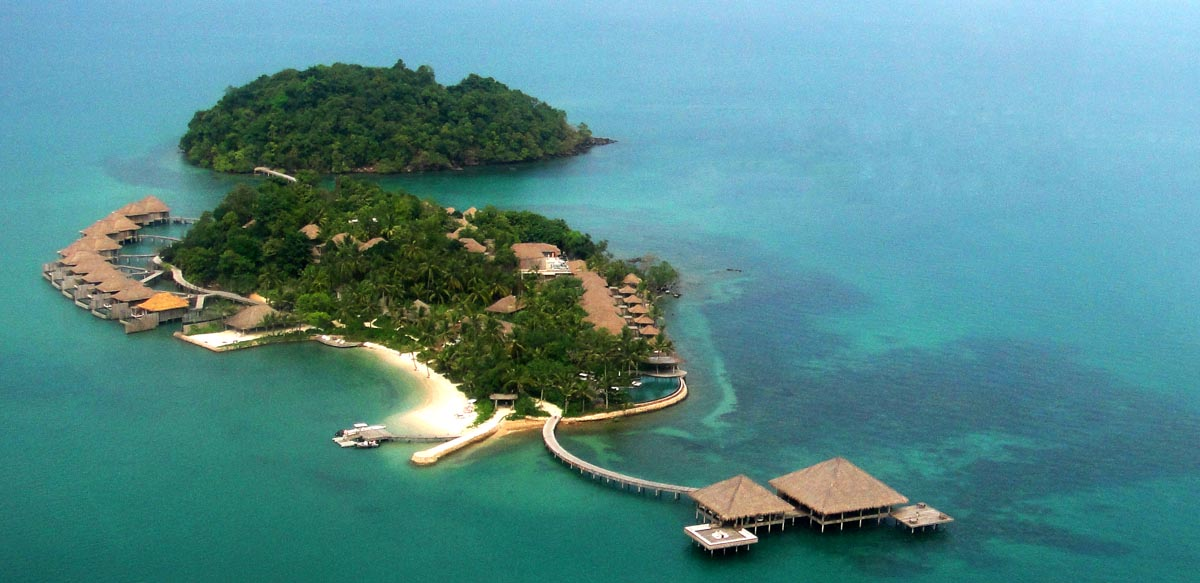 This image: Aerial view of Song Saa Private Island; 45 minutes from Sihanoukville