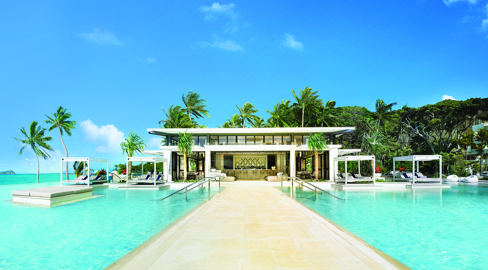 This image: The Aquazure beachfront dining venue at One&Only Hayman Island.