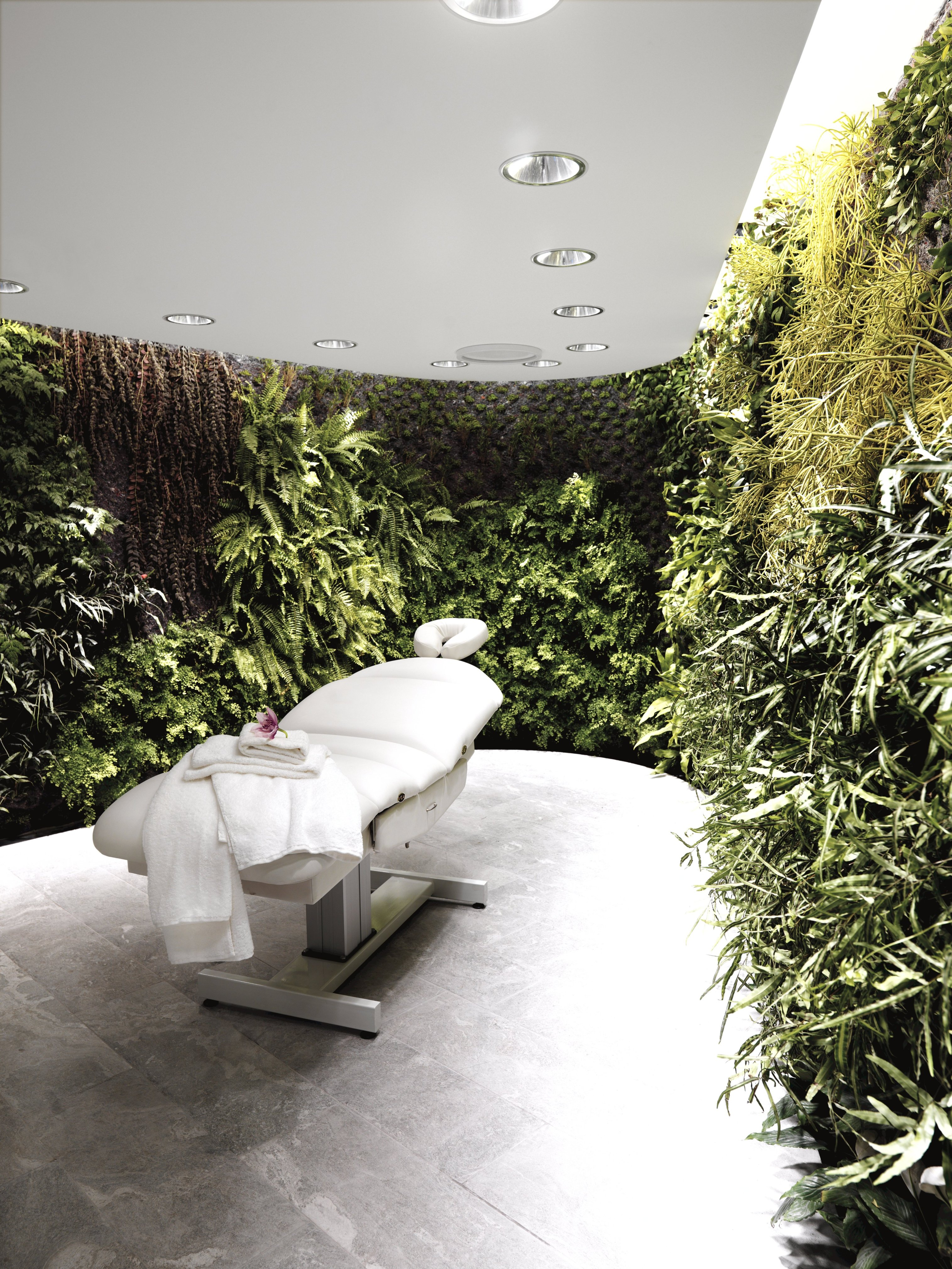 This image: A look inside a treatment room at a Qantas First lounge. Source: Qantas