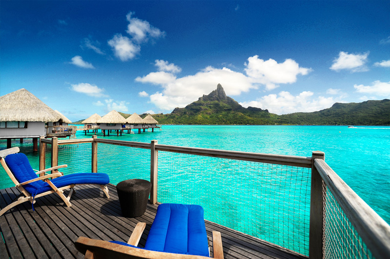View from our overwater bungalow at Le Meridien Bora Bora. Image: Starwood
