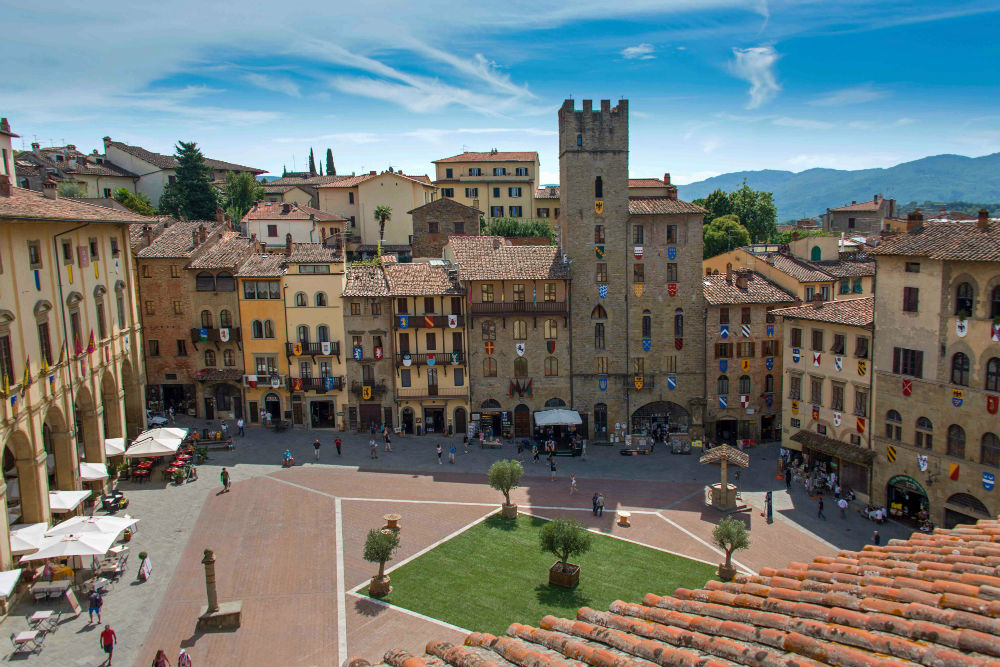 This image: Town Square of Arezzo, Tuscany.