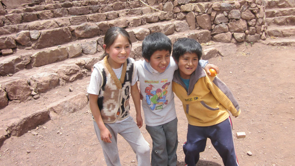Friendly faces in the village of Luquina Chico, Lake Titicaca, Peru.