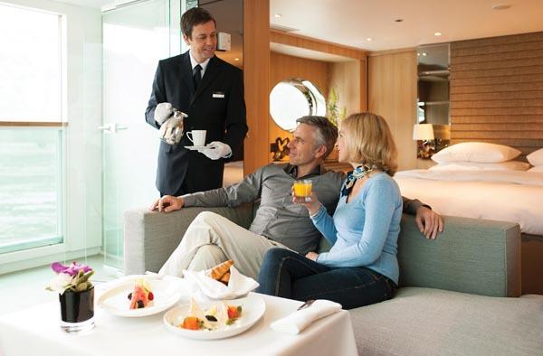 Private butler service on Scenic river cruise