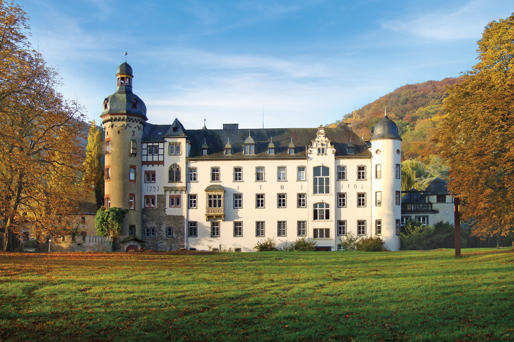Visit Namedy Castle, home to Princess Heide von Hohenzollern.