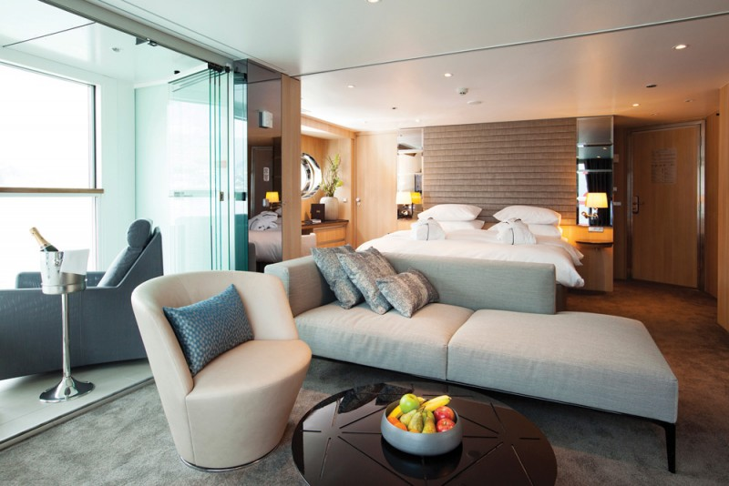 Panorama Suite on board a Scenic Space-Ship. Image: Scenic