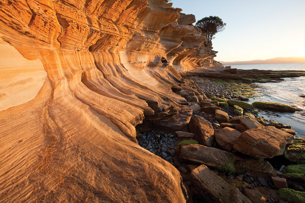 The Painted Cliffs, Maria Island. Image courtesy of The Maria Island Walk.