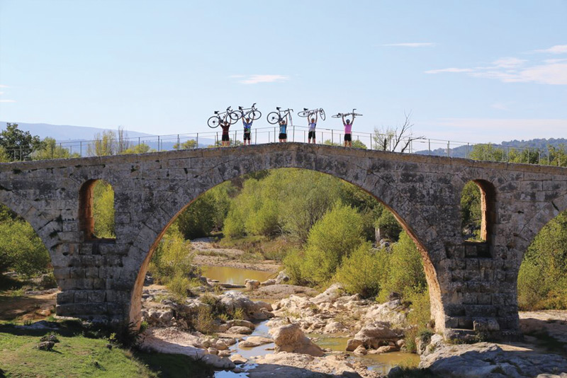 Pont Julien, a Roman stone arch bridge in the south-east of France dating from 3 BC. Image courtesy of Ride & Seek.