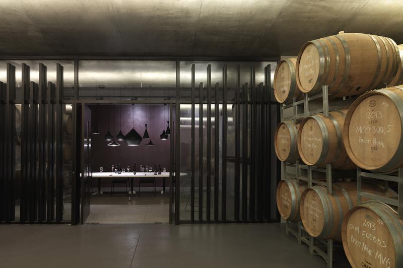 Visit the underground barrel room on Moorilla