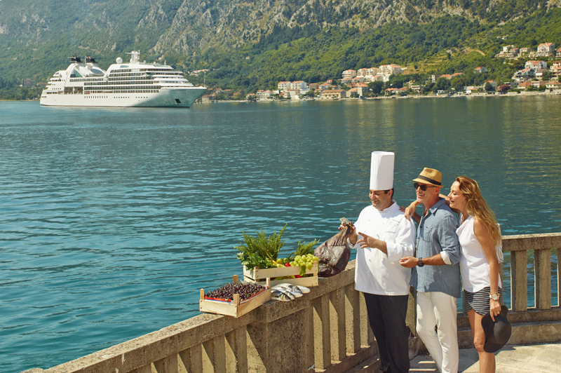 Meal on the Seabourn