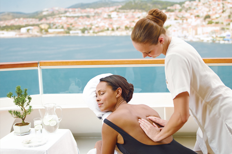 Choose from a variety of spa treatments and rituals on board at The Spa at Seabourn. Image: Seabourn