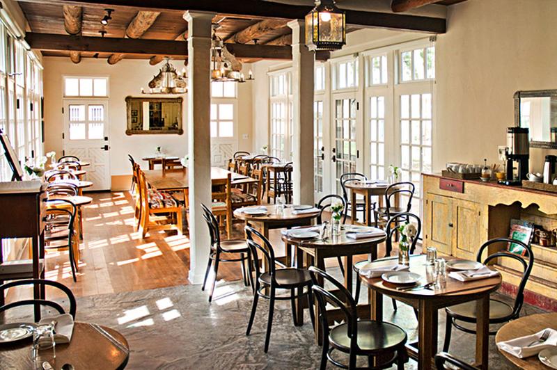 Authentic dining at Los Poblanos. Image: Los Poblanos Historic Inn & Organic Farm.