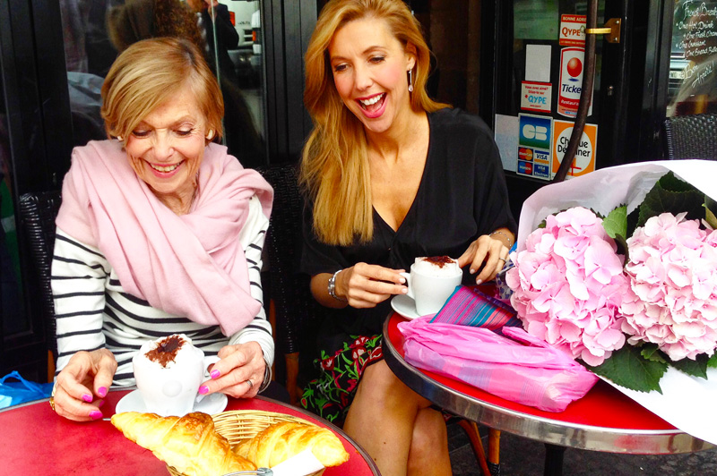 Catriona and her Mum on holiday with Scenic in Paris. Image: Scenic