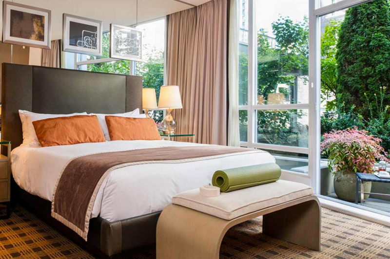 The Loden's Garden Terrace rooms with private patio. Image: Loden Hotel