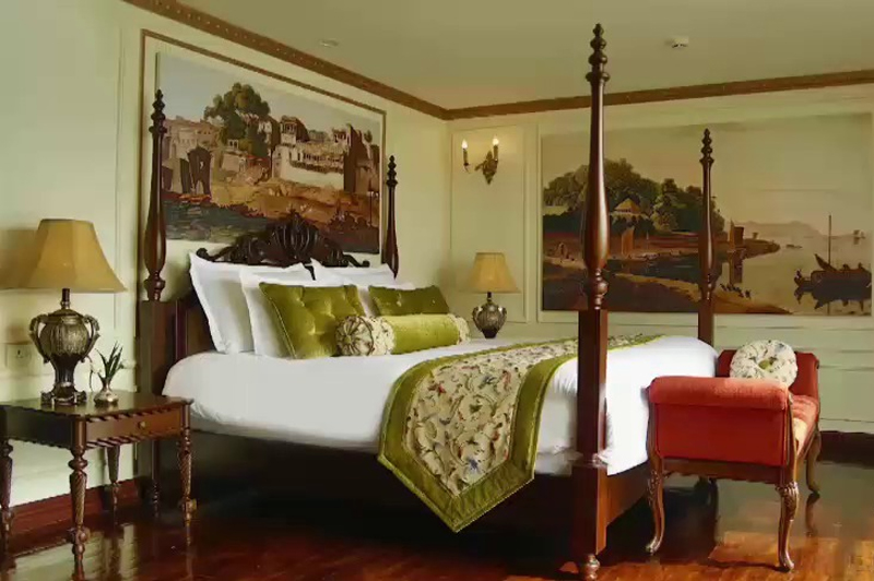 A glimpse inside a suite onboard the rv Ganges Voyager. Image: APT
