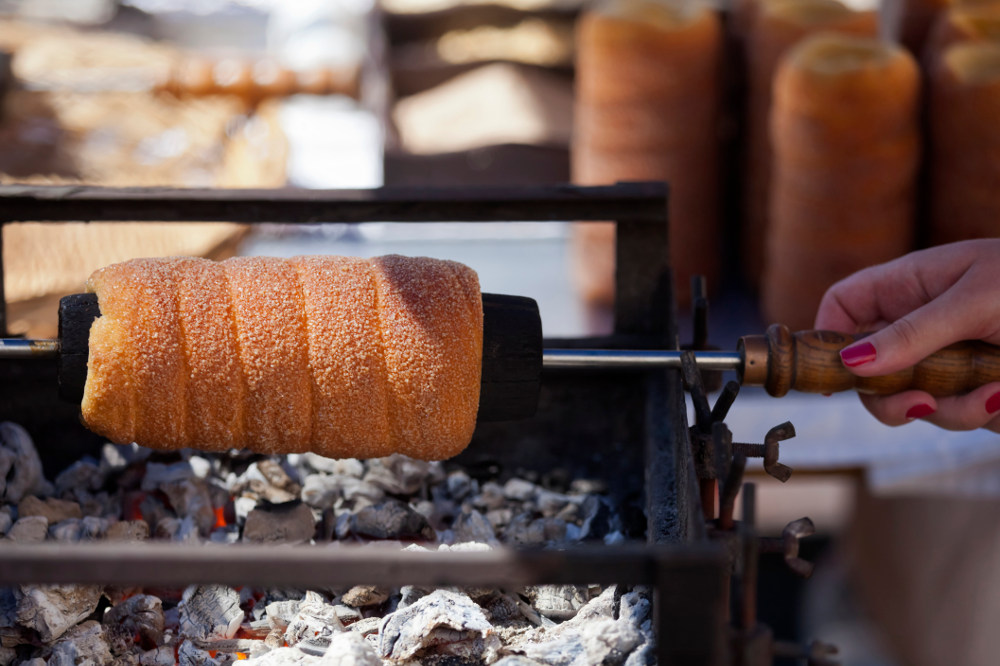 A traditional Hungarian pastry commonly known as Chimney Cake (Image: Getty)