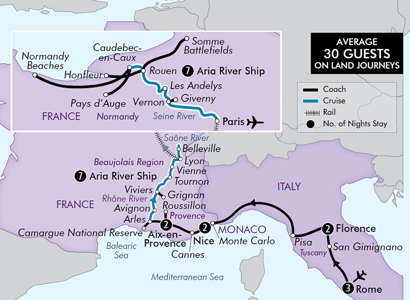 24-Day Italy French Riviera & Provence. Images courtesy of APT.