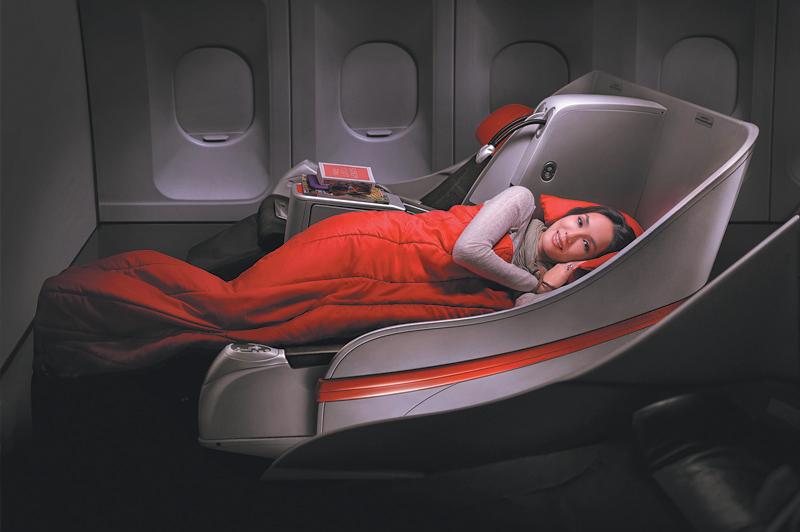 Lie flat with AirAsia X en-route to Kuala Lumpur. Image courtesy of AirAsia X.