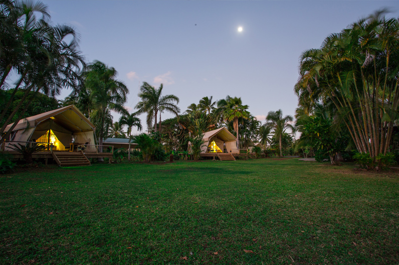 Situated on a sprawling property looking out over Rarotonga's stunning hinterland, Ikurangi Eco Retreat offers an alternative to lagoon-side stays. Image courtesy of Ikurangi Eco Retreat.