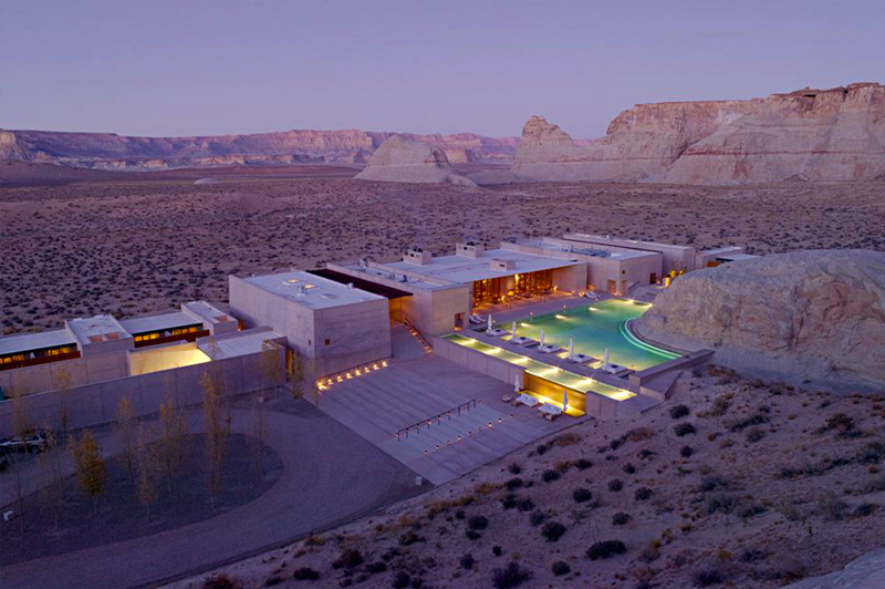 Fancy candlelit and full moon yoga session followed by a Navajo-inspired spa treatment? Image: Aman Resorts