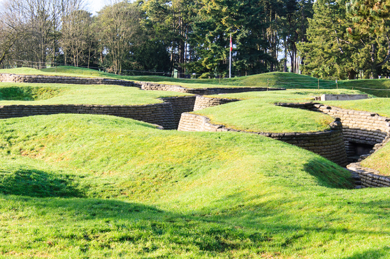 The trenches and craters on battlefield of Vimy Ridge. Image: Getty