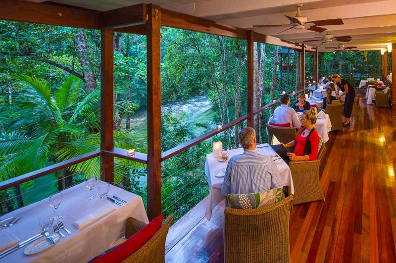 Treehouse Restaurant. Image courtesy of Silky Oaks Lodge.
