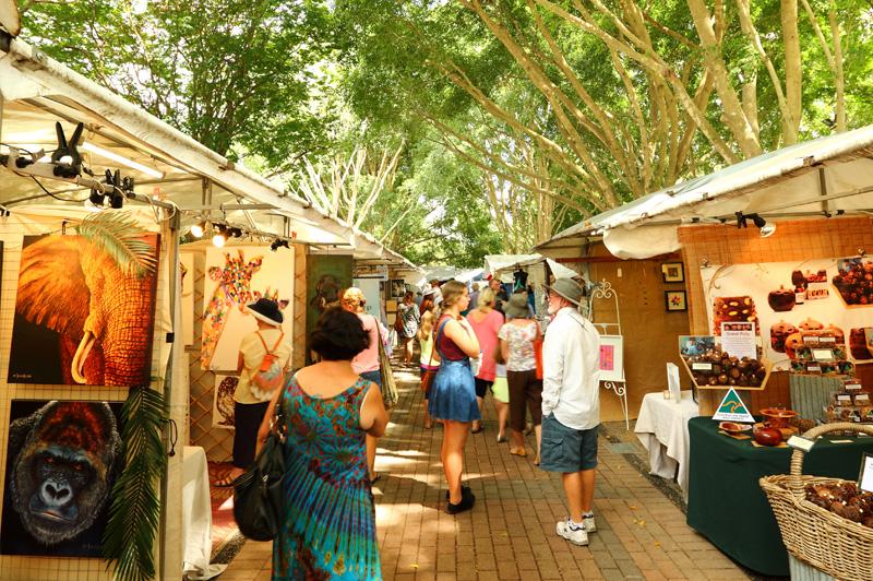Eumundi Markets. Image: Visit Sunshine Coast