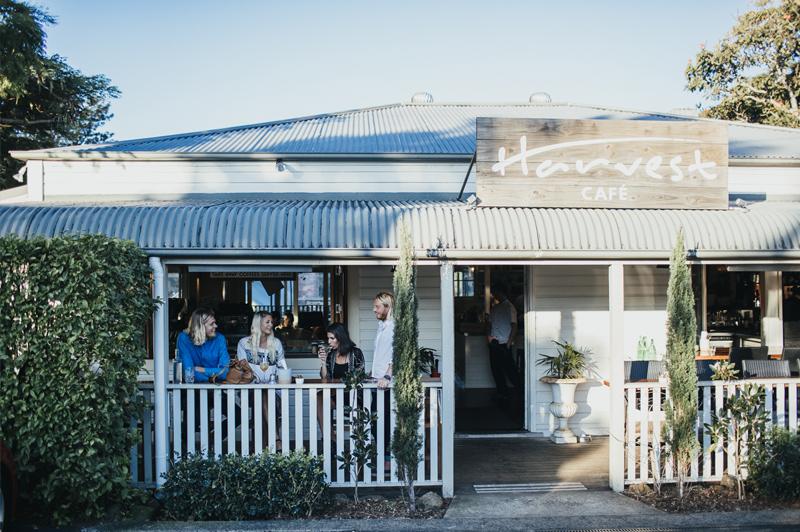 Outside Harvest Cafe in Newrybar. Image: Harvest Cafe