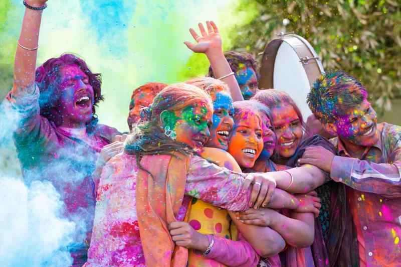 Holi Colour Festival, Mumbai, India on 23 March 2016. Image: Getty