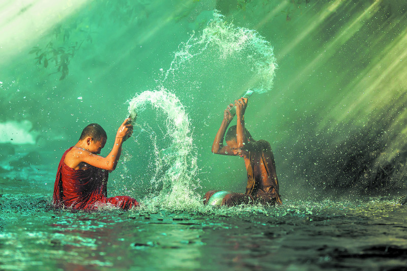 Thai New Year (Songkran), Thailand on 13 to 15 April 2016. Image: Getty