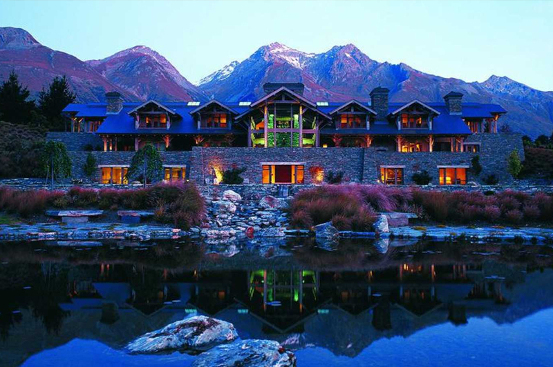 Blanket Bay Lodge in Glenorchy. Image: Luxury Lodges of New Zealand