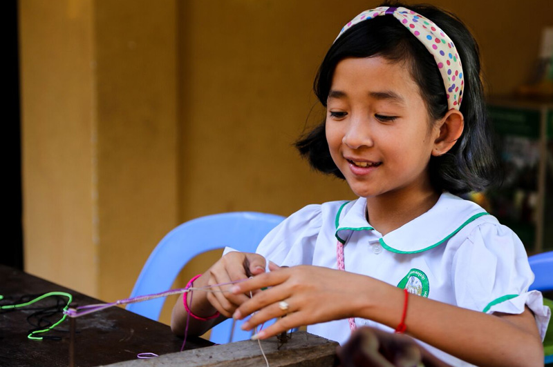 Young student at the Future of Khmer Children Organization in Siem Reap. Image: Kim Lambert
