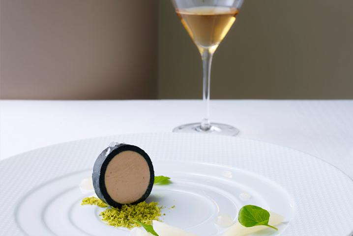 Your Thomas Keller starter: Terrine of Moutarde Duck Foie Gras. Image: Seabourn