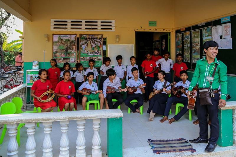 Outside the Future of Khmer Children Organization in Siem Reap. Image: Kim Lambert