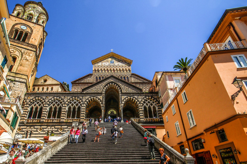 The ornate Amalfi Cathedral. Image: Getty
