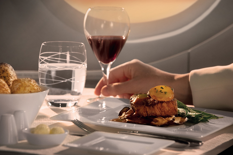 Meals designed by Michelin starred chefs delivered to your seat. Image: Qatar Airways