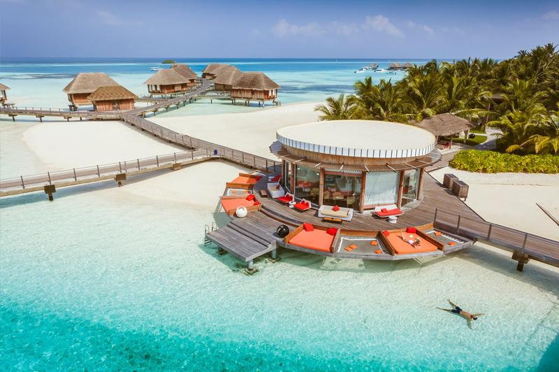 Home of happiness in the Maldives at the all-inclusive Club Med Kani. Image: Club Med